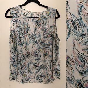 Talbots paisley blouse